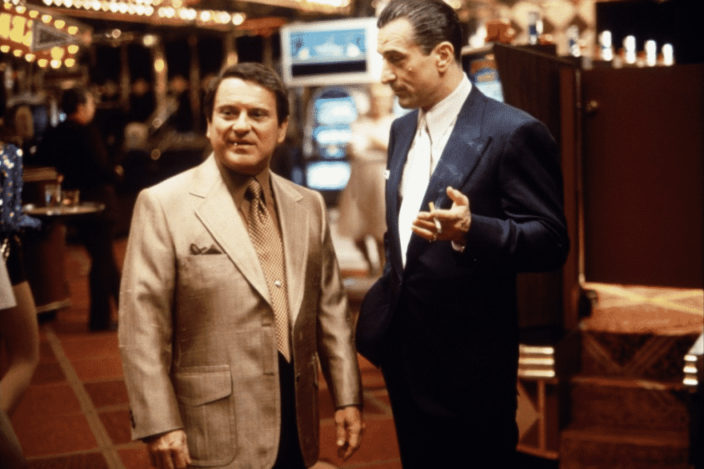 Robert de Niro och Joe Pesci i Casino
